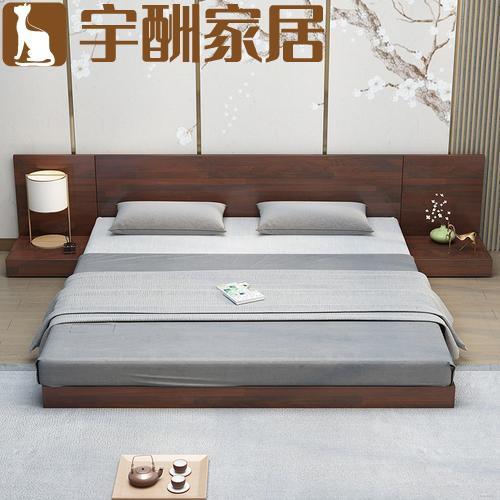 【宇酬家居】實木床1.8簡約榻榻米床單雙人日式板式床1.2米經濟出租房1.5主臥