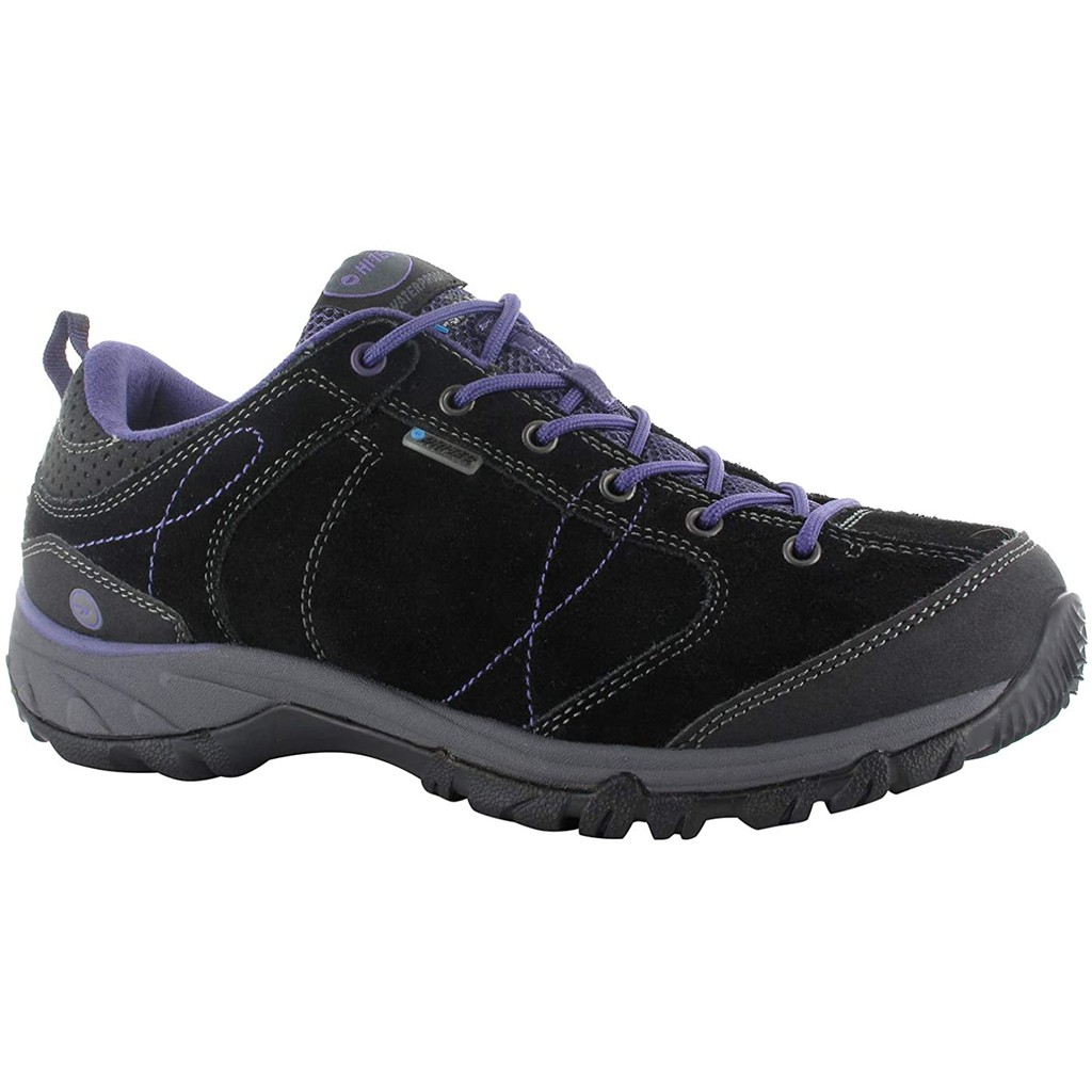 CodEX= HI-TEC EQUILIBRIO BELLINI LOW WP 防水麂皮戶外登山鞋(黑) 健行 英國 女