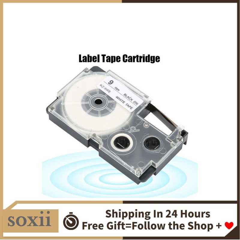 Soxii1 卡西歐標籤機KL-60 / 120/170/780的9毫米標籤機膠帶~粉粉櫻花