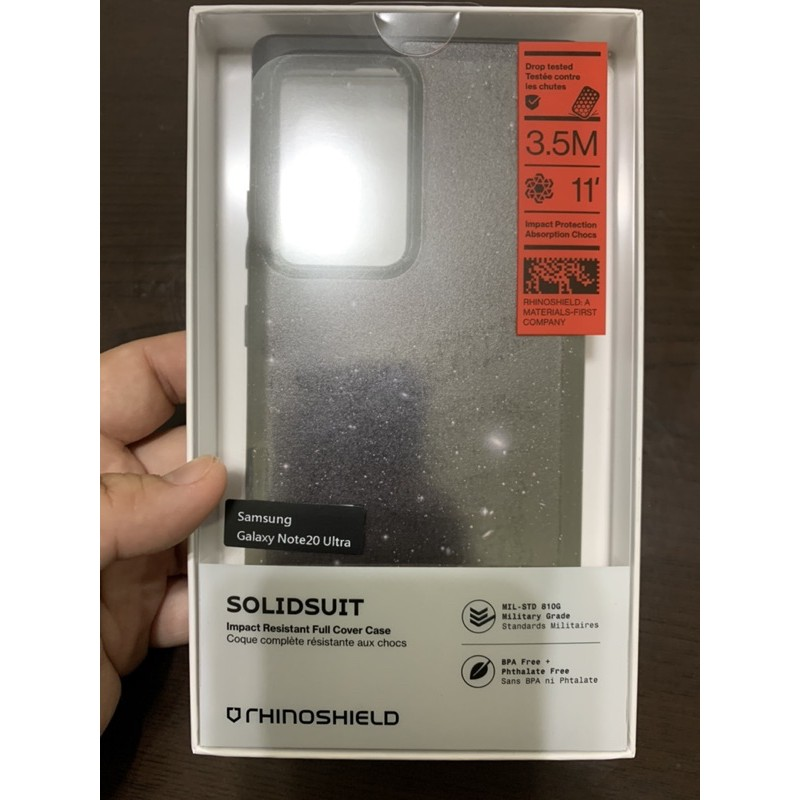 三星Galaxy Note20 Ultra 犀牛盾SolidSuit獨家設計款防摔背蓋手機殼 銀河星空 二手近全新