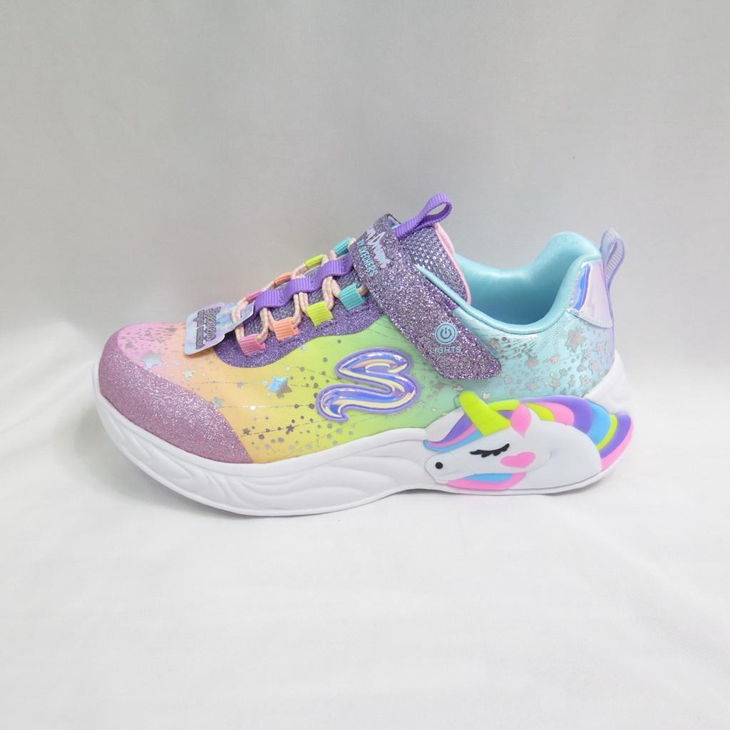 Skechers UNICORN DREAMS 中童鞋 獨角獸燈鞋 302311LPRMT 粉紫【iSport愛運動】