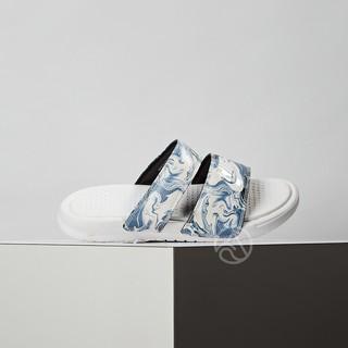 Nike Benassi Duo 女鞋 藍白 花卉 拖鞋 819717-002 微瑕疵 新北市