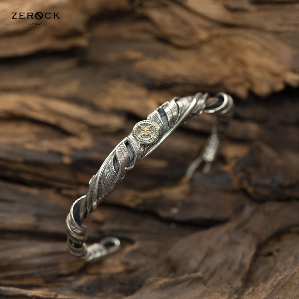 《ZEROCK》日本 Horizon Blue 平塚隆之 twist 捲羽點金手環L號  HB 925銀18K金