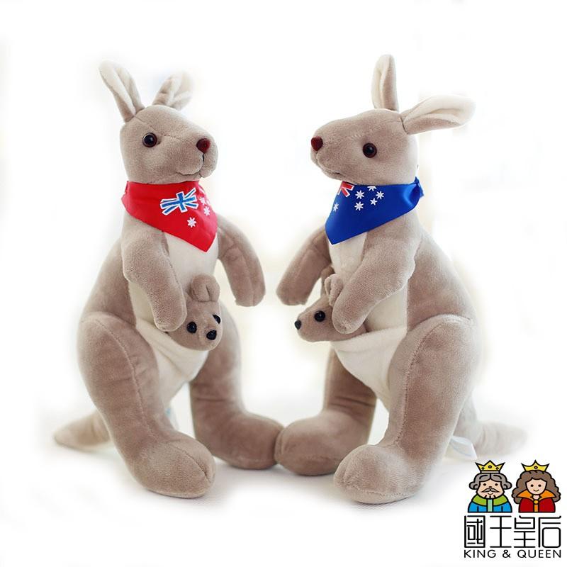 澳洲 袋鼠 毛絨 玩具 玩偶 / 公仔 母子 袋鼠 / 毛絨公仔 國王皇后】