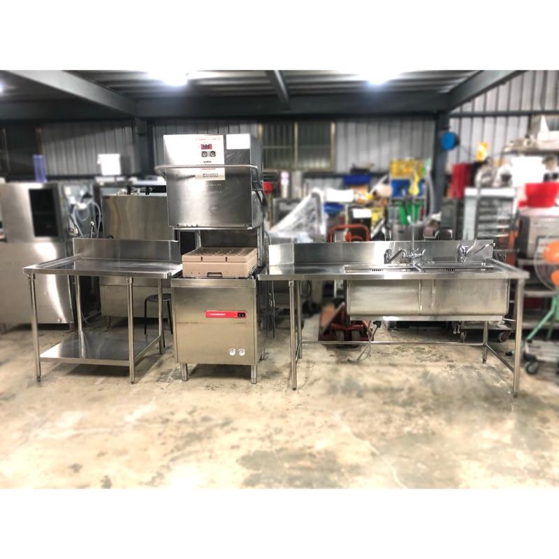 二手Comenda義大利製造RC411掀門式洗碗機/商用洗碗機/前後洗台/餐廳專用洗碗機/二手洗碗機