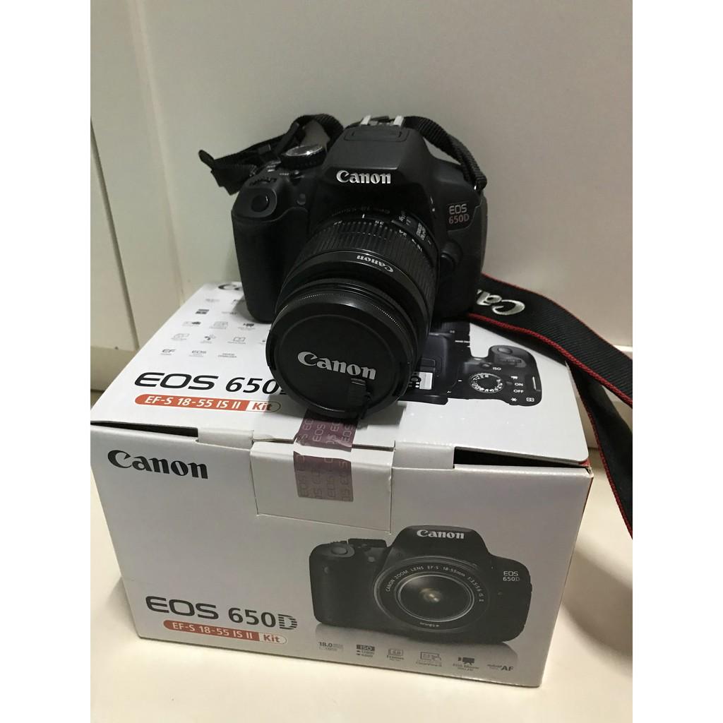 二手Canon EOS 650D單眼相機+ EFS 18-55mm鏡頭含全套配件