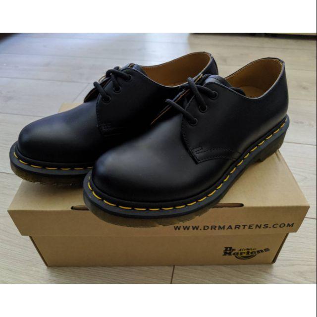 【代購】英國馬丁大夫 Dr. Martens 1461 男/女 3-Eye Shoe Black Smooth