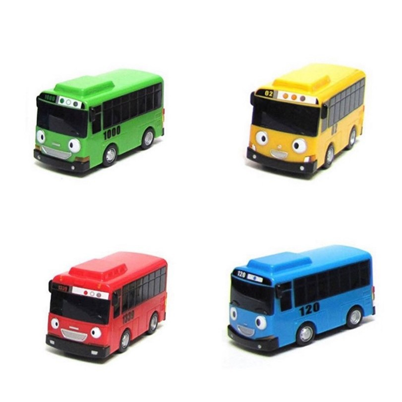 #8 PCS /包卡通迷你TAYO巴士出租車回兒童益智玩具