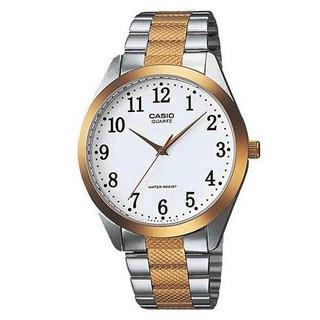 【CASIO】時尚紳士金銀富豪腕錶-數字白面(MTP-1274SG-7B)正版宏崑公司貨 新北市