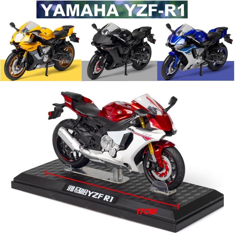 1:12雅馬哈YAMAHA YZF-R1摩托車模型 模型擺件禮物