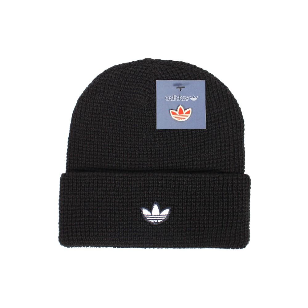 ADIDAS 毛帽 針織帽 短版 WAFFLE CUFF - GD4572