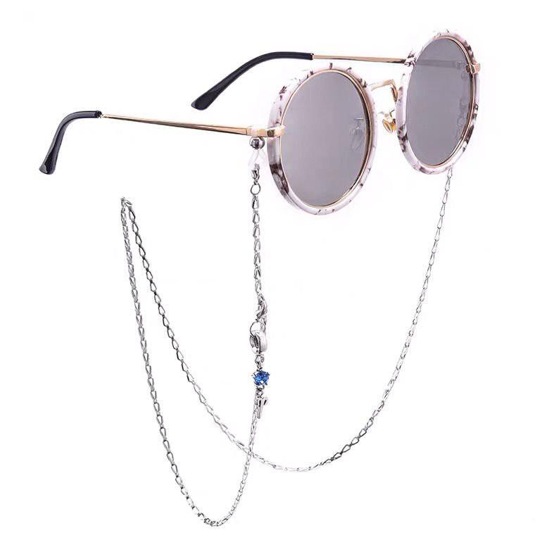 口罩鏈12星座眼鏡鏈條掛脖時尚裝飾女網紅簡約防滑墨鏡眼睛二用鍊