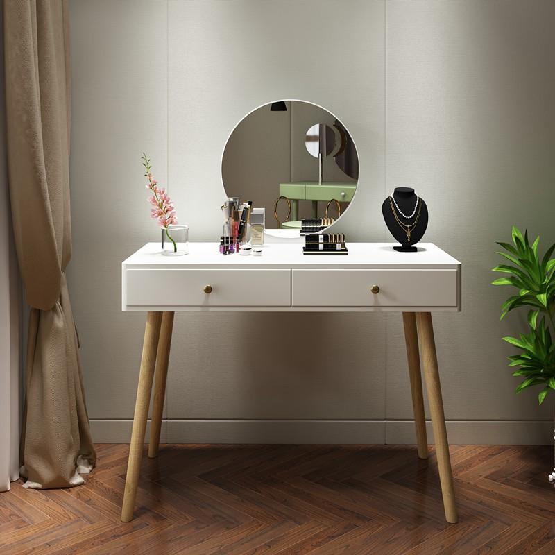 北歐梳妝臺網紅ins風迷你小戶型桌 臥室現代簡約輕奢超小化妝柜子新品 現貨
