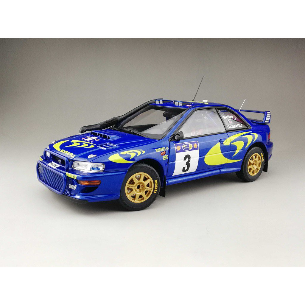 熱銷AUTOart1/18AA奧拓斯巴魯SUBARU IMPREZA WRC 1997 科林麥克雷