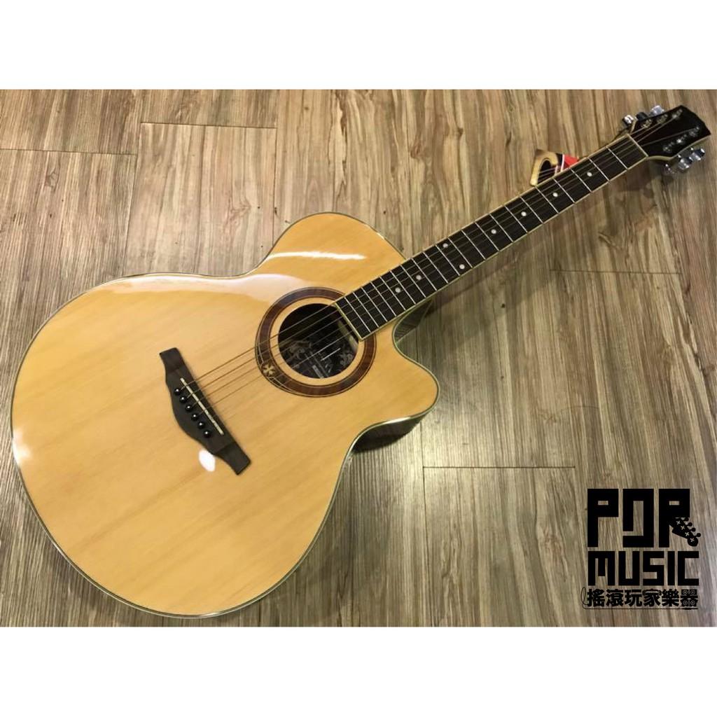 【搖滾玩家樂器】全新 免運 ULTRA B236 民謠吉他 木吉他 原木色 附琴袋 背袋 pick 琴布
