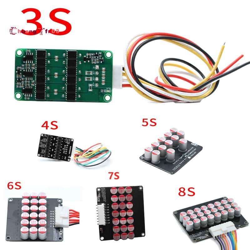 1.2A 平衡適用於鋰離子 Lifepo4 LTO 鋰電池有源均衡器平衡板電容器 BMS 8S
