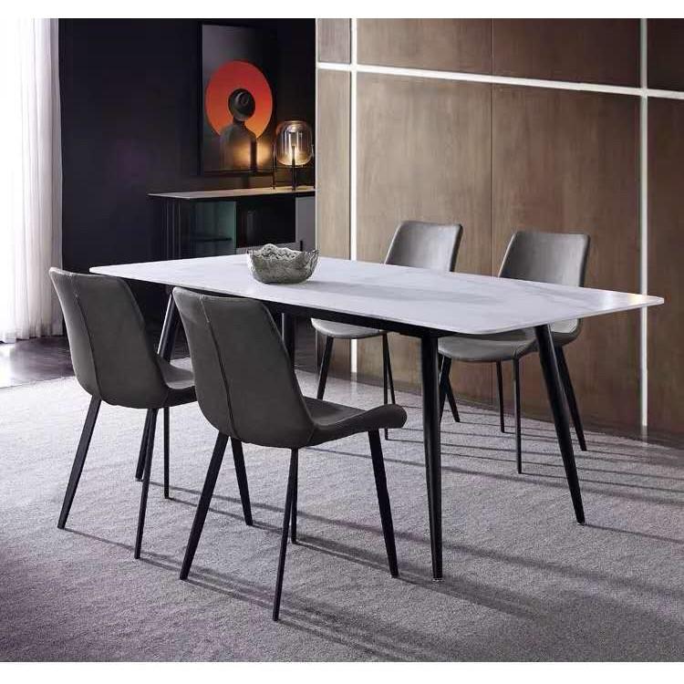 含運含安裝!優惠促銷餐桌!碳素鋼支架,大理石桌面/岩板桌面適合工業風桌面。輕奢風大理石桌,簡約岩板餐桌,耐高溫,耐刮花, | 蝦皮購物