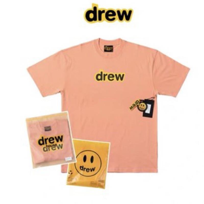 美國🇺🇸代購drew house 新色Justin Bieber 小賈斯汀 笑臉 潮流 街頭 短袖T恤 桃粉 粉紅