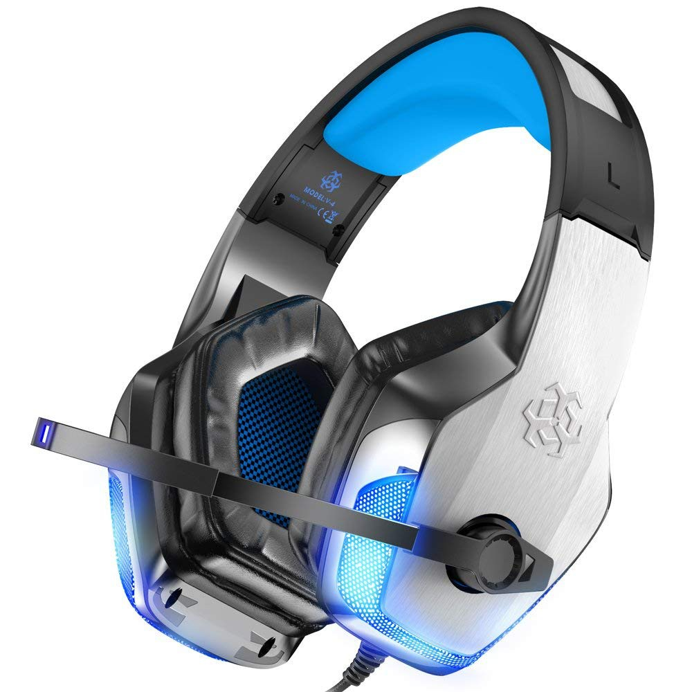 BENGOO V-4遊戲耳機適用於Xbox One PS4 PC 控制器
