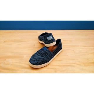 【TOMS】(女)TOMS Avalon 線條編織休閒樂福鞋*大尺寸US9.5號*藍色 台北市