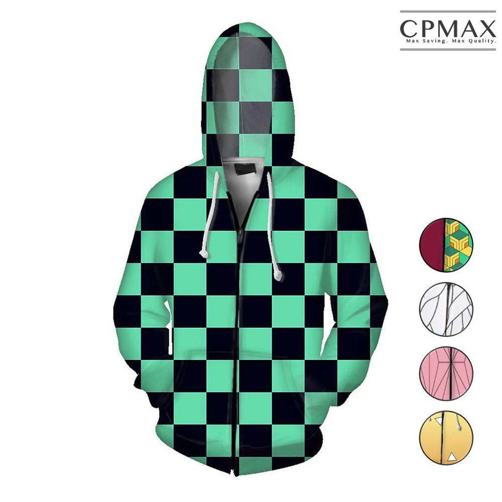 CPMAX 3D印花連帽拉鏈外套 cosplay動漫類 鬼滅之刃 角色服 配色款 防風連帽外套 C148 廠商直送 現貨