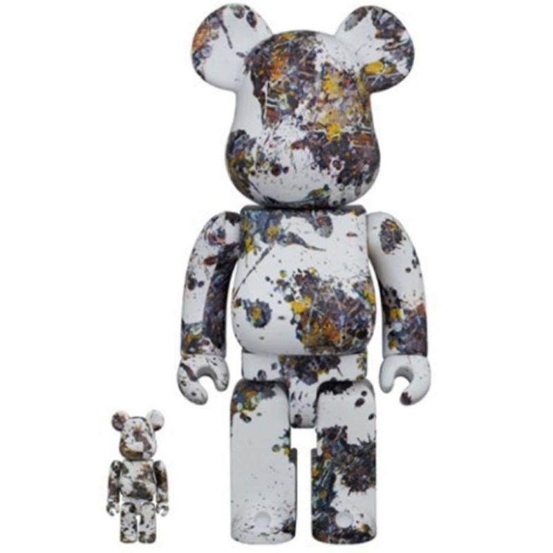 現貨BE@RBRICK Jackson Pollock Splash 400% 100% 潑墨 3代