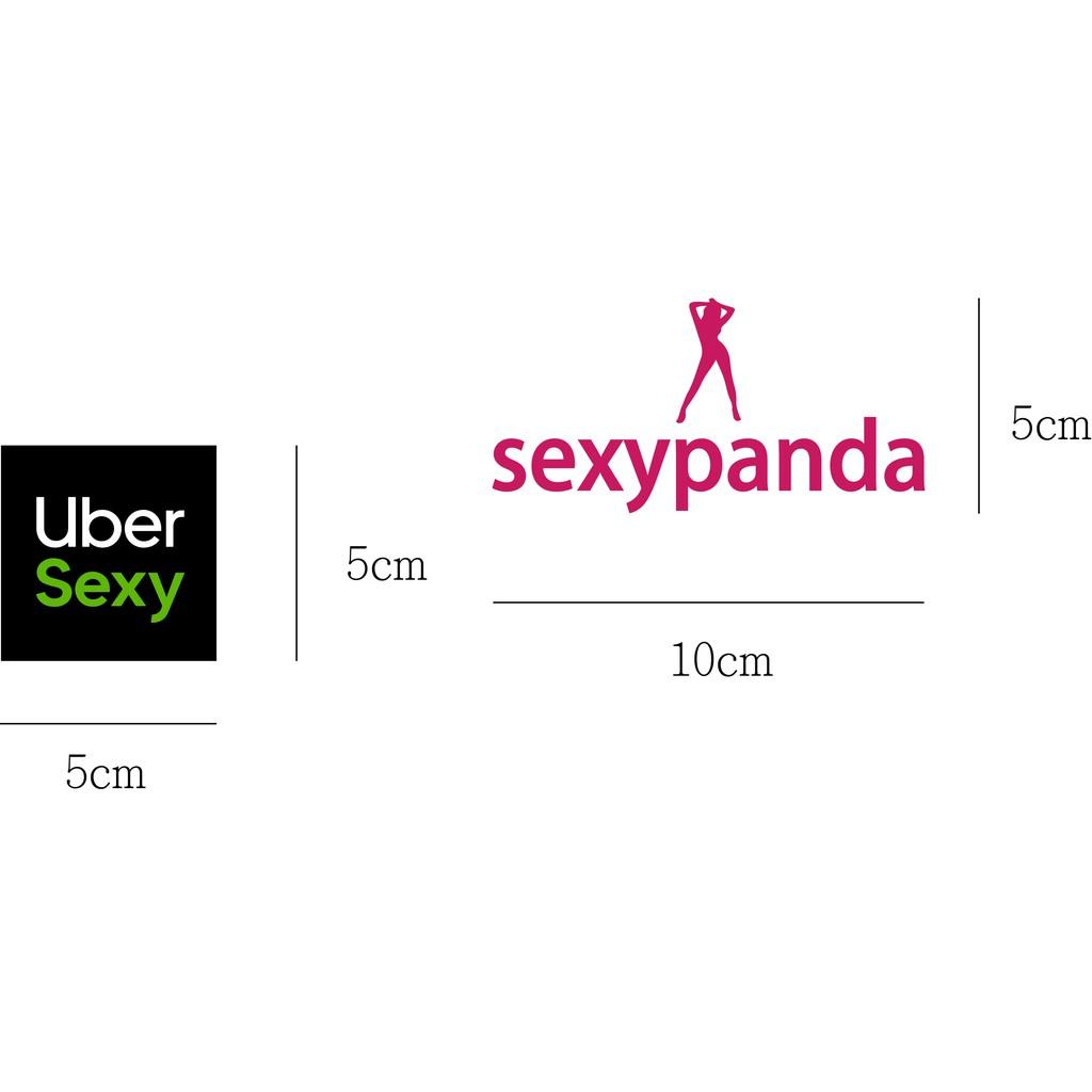 uber 熊貓 foodpanda 惡搞貼紙   彩貼包膜設計 防水貼紙 潮流貼紙 個性貼紙 行李箱貼紙 安全帽貼紙