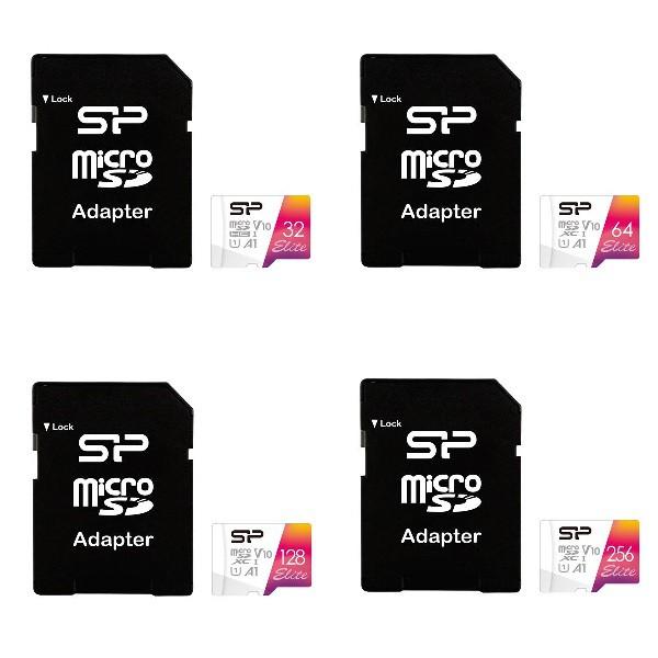 SP 廣穎 MicroSD UHS-I U1 A1 32GB/64GB/128GB/256GB 記憶卡(含轉卡)