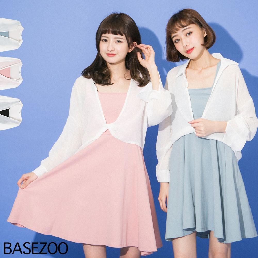 貝思奇-套裝-白雪紡罩衫+洋裝(3色)貝思奇【S710409】