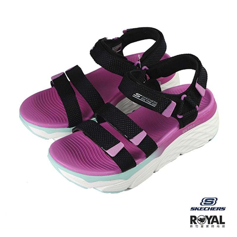 Skechers Max Cushioning 粉色 織布 運動涼鞋 女款 NO.J0339 廠商直送 現貨