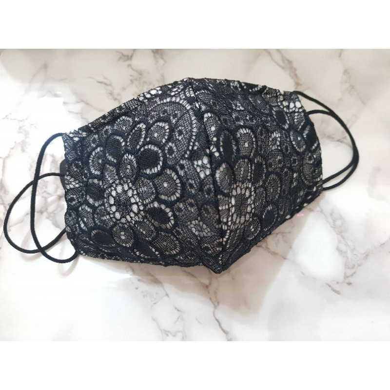 黑色蕾絲口罩 口罩套兩用《超薄舒適》