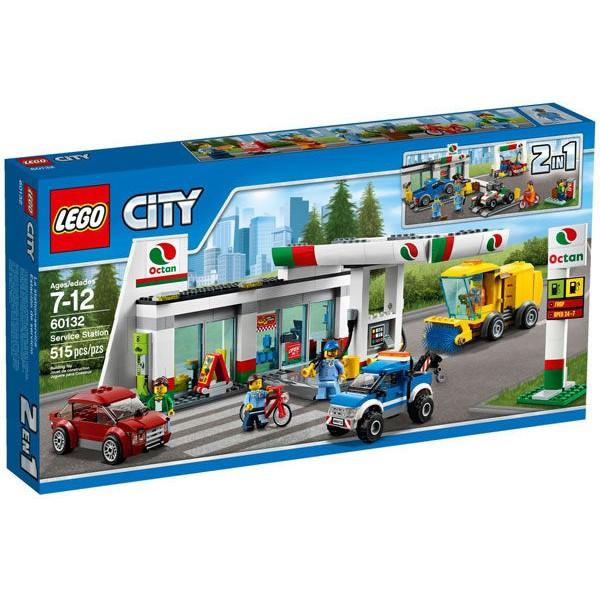 【宅媽科學玩具】樂高LEGO 60132 城市City系列 加油維修站