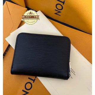 WW二手精品 Louis Vuitton LV M60152 黑色 EPI 水波紋 拉鍊零錢包 實拍