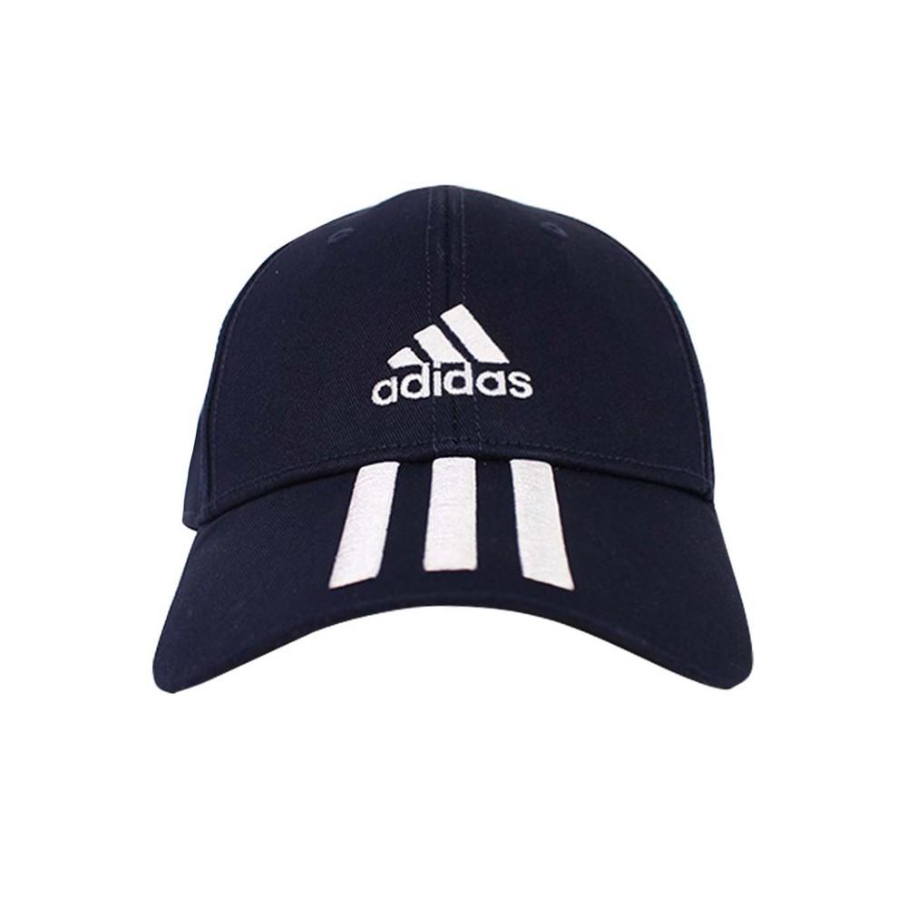 ADIDAS 運動帽 棒球帽 老帽 深藍 BBALL 3S CAP CT - GE0750