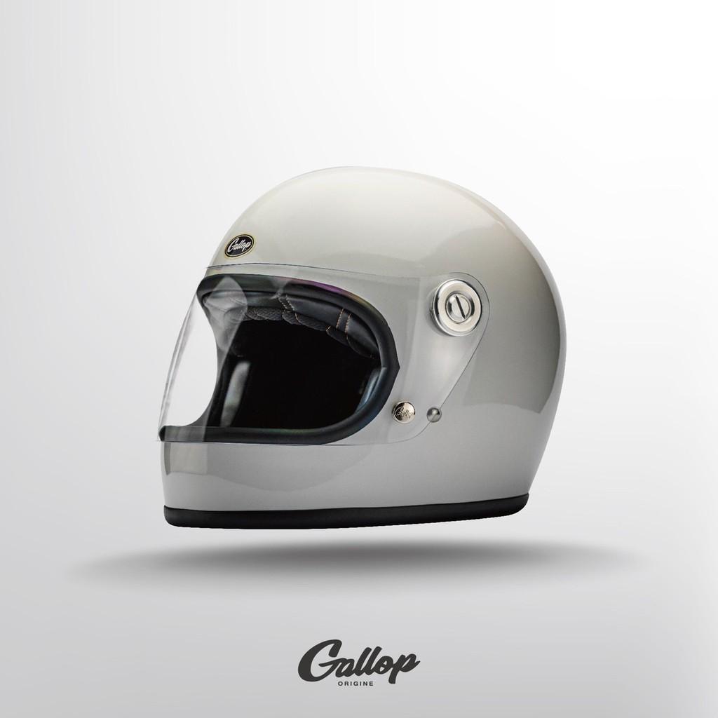 GALLOP TRACK SAFETY HELMET 全罩安全帽 樂高帽 (經典款) 白色