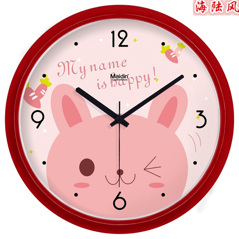 麥丁創意靜音掛鐘現代簡約時鐘數字大掛表藝術客廳石英鐘電子鐘表