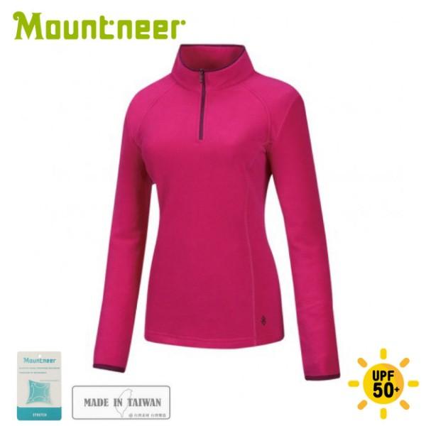 【Mountneer 山林 女刷毛保暖上衣《深粉紅》】32F02/保暖長袖/保暖中層