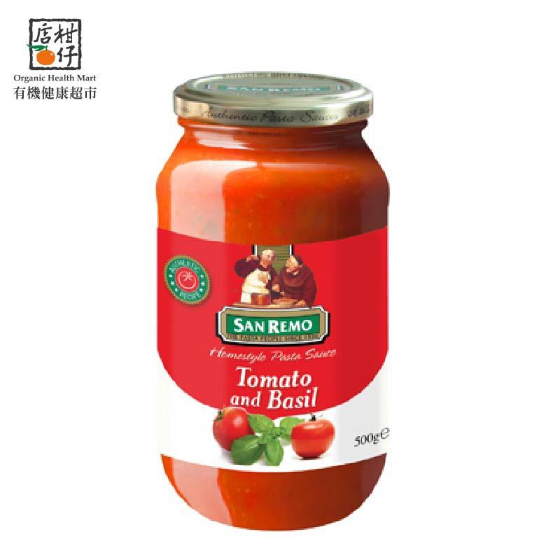 聖雷蒙頂級麵醬-蕃茄羅勒(500g/罐)