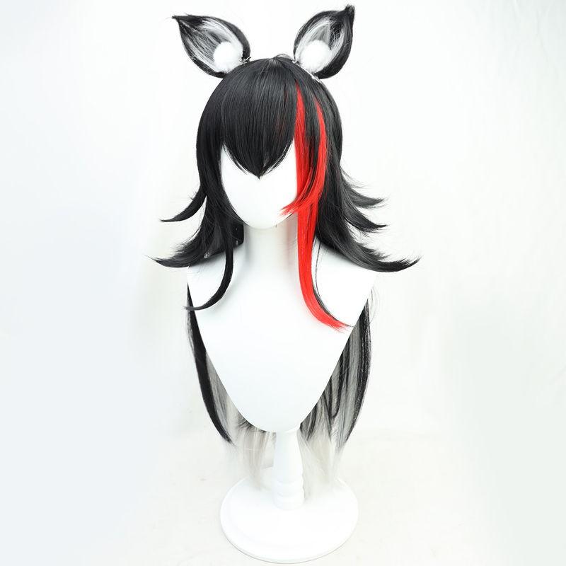 💝Hololive💝【自由人】hololive虛擬偶像大神澪cos假髮vtuber播主反翹耳朵cos服