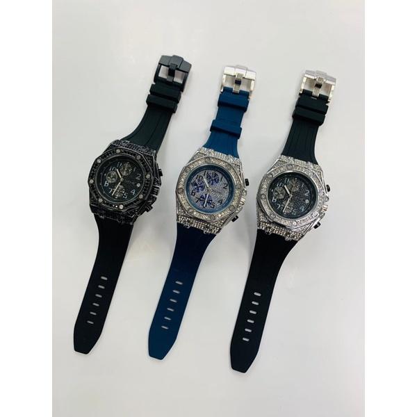 718🎉手錶85折[EPTC精品]PINTIME錶框帶鑽三眼錶