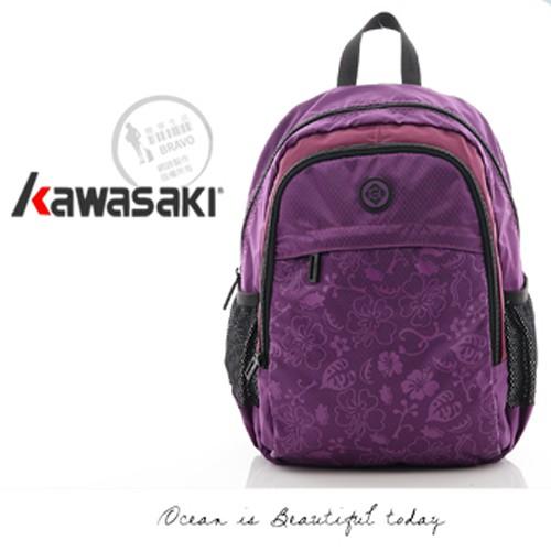 Kawasaki 超輕優質後背包_印花小背包系列_紫