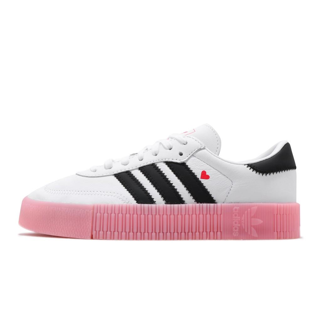 adidas 休閒鞋 Sambarose W 白 黑 粉紅 情人節 女鞋 三葉草 EF4965 【ACS】