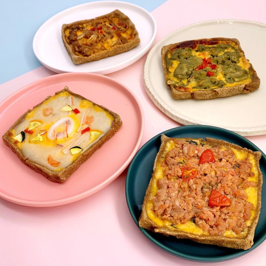 黃正宜生酮餐 PIZZA麥麩吐司/六小福/墨魚海鮮/打拋豬/青醬嫩雞/壽喜牛