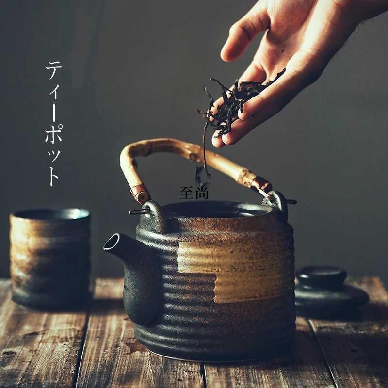 #至尚#【曰式餐廚用品】日式茶壺套裝陶瓷冷水壺家用大容量涼水壺商用果汁壺禪意精致水壺