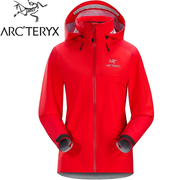Arcteryx 始祖鳥 登山風雨衣/防水透氣GTX外套20319 Beta AR 女Gore-Tex Pro 亮紅