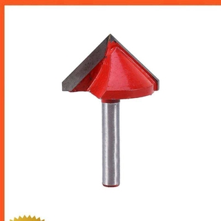 Xguli 銑床CNC雕刻V形鑽頭6mm x 32mm 90度新