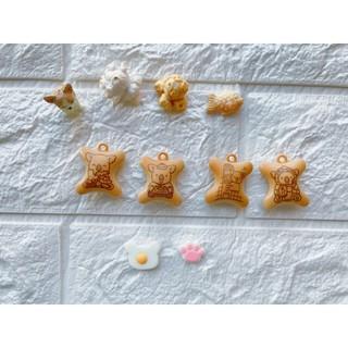 樹脂 柴犬 樂天小熊 爆米花 鯛魚燒 貓掌  手作裝飾 配件 食物配件 微景裝飾 袖珍小物 樹脂配件 袖珍 DIY 飾品 新北市