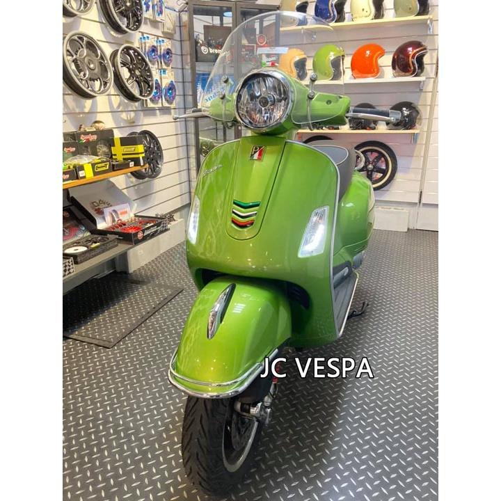【嘉晟偉士】二手車 VESPA 偉士牌 義大利原裝進口(2018年)GTS300 Super 綠 超低里程 全車鍍膜
