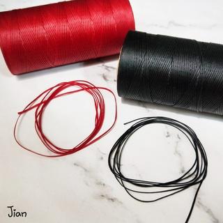【JIAN手作】0.8mm扁蠟線/ 走馬蠟線/ 紅色黑色/ 手作編織材料DIY/ 1米1元 新北市