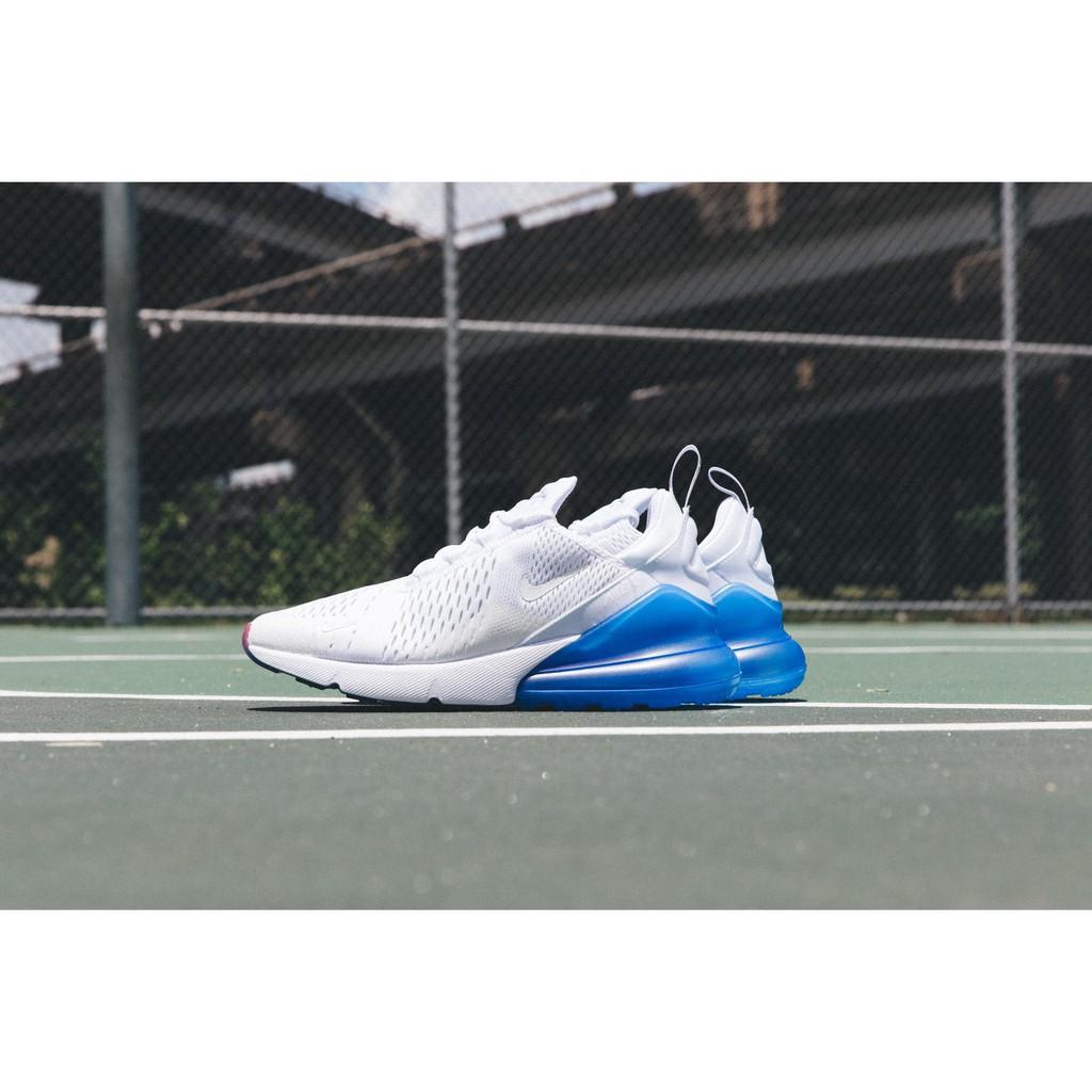 【正貨爆款】Nike Air Max 270 藍白 氣墊 透氣 新配色 慢跑鞋 女鞋 AQ7982-100